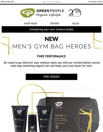 NEW Men's Gym Bag Heroes   Green People