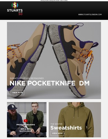 New Nike Pocketknife, Coats from Fjall Raven, Raw Selvage Jeans & Product Review Video