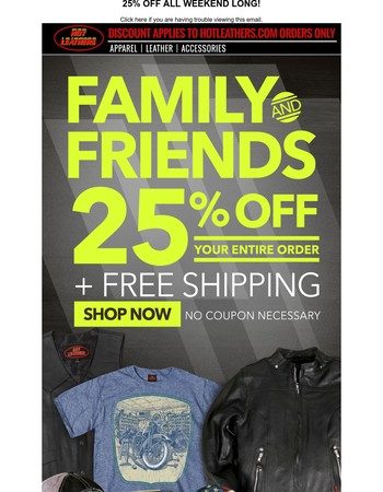 Last Chance: Friends and Family Sale Ends Tonight!