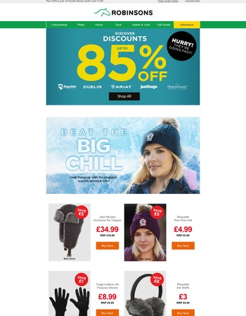 85% off top brands   Beat the big chill