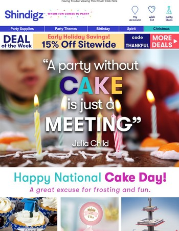 It's National Cake Day!