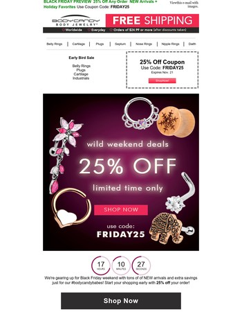 Just For You ♥ 25% Off