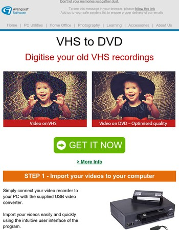 [50% OFF] Digitize your VHS tapes -- Save your memories