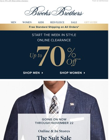 The Suit Sale: 2 for $1,499. Just 4 days left