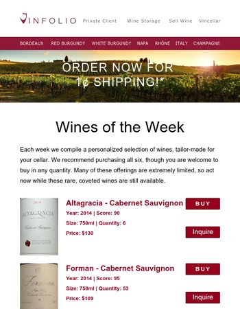 Just for You: Hand-Picked Wines for the Weekend