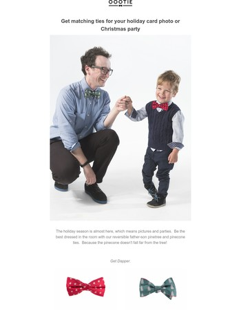 Matching Father Son Holiday Ties