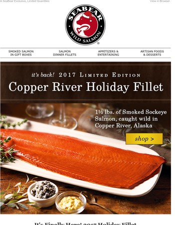 Our Annual Holiday Fillet is HERE! Plus 2nd Annual Glass Platter Event