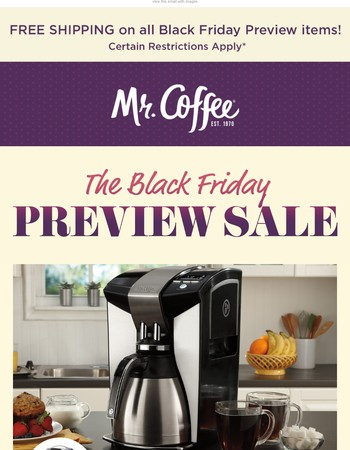 Drum roll, please: The Black Friday Preview Sale is HERE