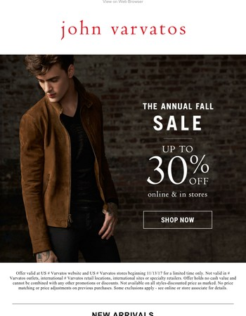New Sale Styles - 30% Off