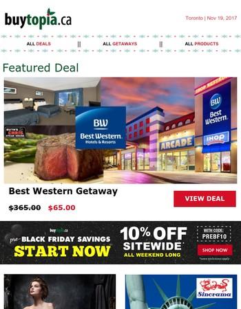 Best Western Niagara Getaway + 10% Off Sitewide