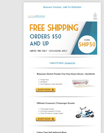 Get FREE SHIPPING on Your Next Medical Supply Order!