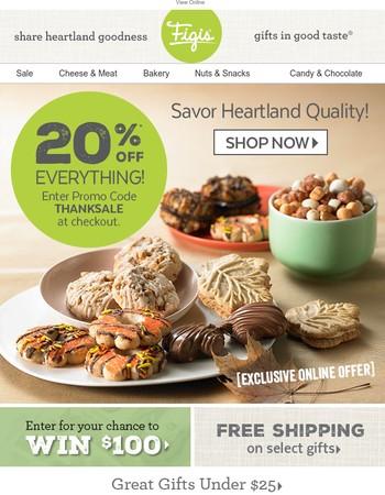Black Friday Savings have Begun! Save 20% on Everything
