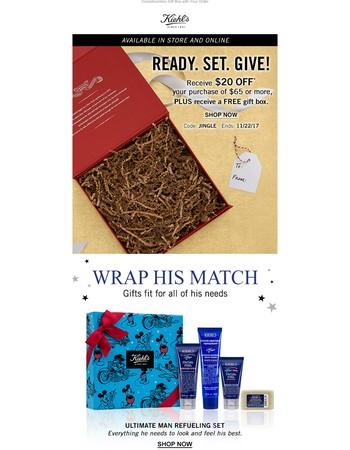 Wrap It Up With Kiehl's!