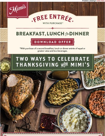 Two Ways to Celebrate Thanksgiving With Mimi's