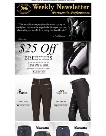 Last Day to SAVE $25 on Breeches!