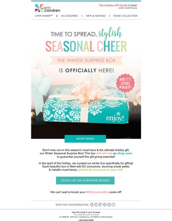 Don't miss out: Winter Surprise Box is selling fast!