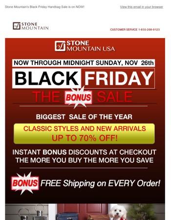 Huge Black Friday Specials *Now* Through Midnight Nov 26th