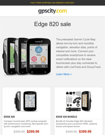 Garmin Edge 820 Bike GPS Sale