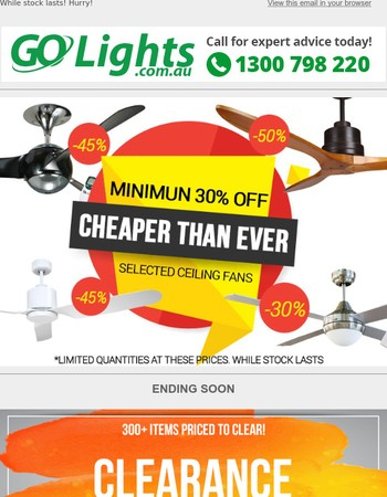 Ceiling FansClearance - Up To 50% Off