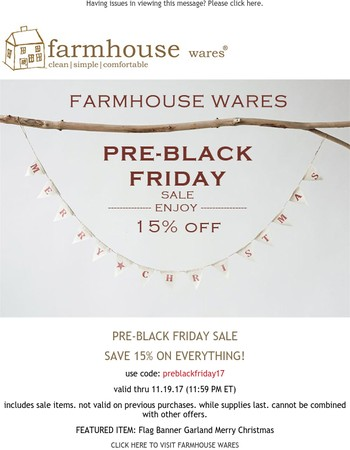 15% Off EVERYTHING {final hours to save}