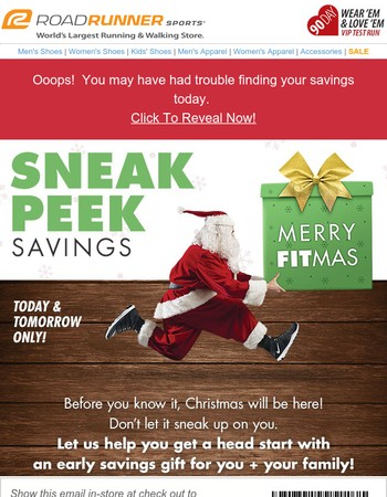 Oops! Reveal Your Surprise Savings Now