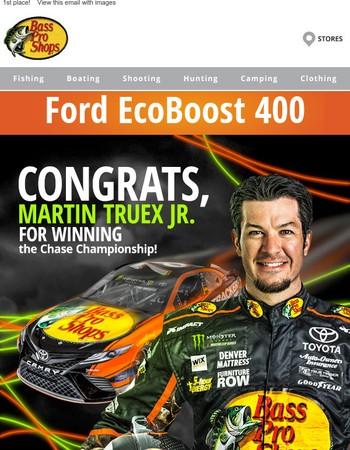 Congrats Martin Truex Jr.