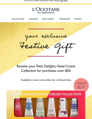 Your Exclusive Petit Hand Cream Collection Gift