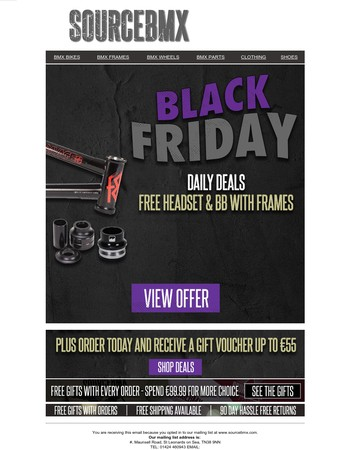 Black Friday - open to get our first special deal!