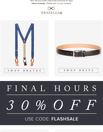 Private Sales Final Hours