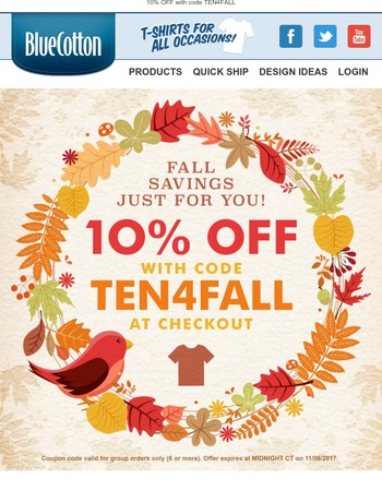 Look inside for your fall savings coupon!