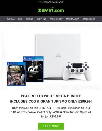 PlayStation 4 Pro MEGA Bundle - Only £299.99! [Massive Savings]   Mega Monday: Ends Midnight!