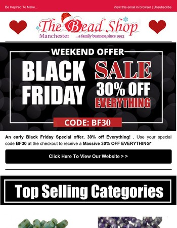 Early Black Friday 30% Off!