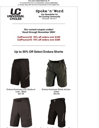 Spoke'n'Word - Coupons, Specials from Endura, Whisky Parts Co.