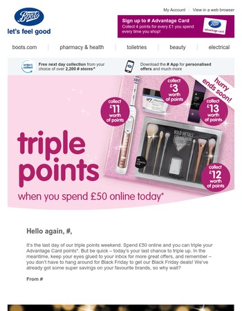 Triple points and Black Friday deals