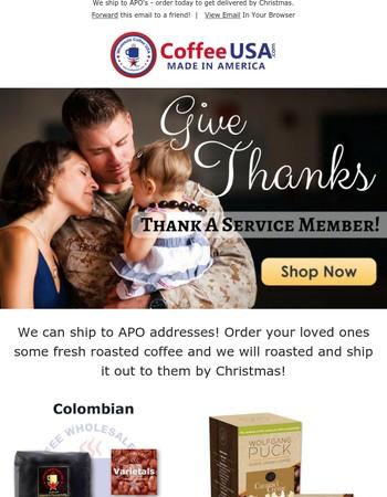 Thank a service member!