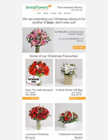 Arena Flowers Newsletter