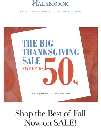 The Big Thanksgiving Sale Is Here!