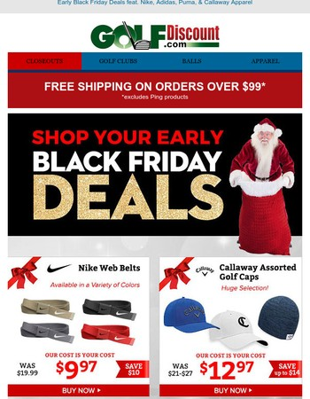 Countdown to Black Friday, Shop Early & Save!
