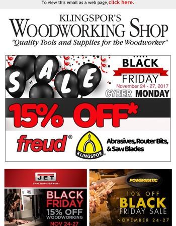 Klingspor's Woodworking Shop Newsletter