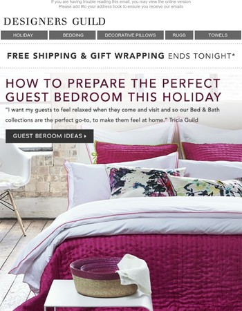 Free Gift Wrapping Service | Ideas for the Perfect Guest Bedroom