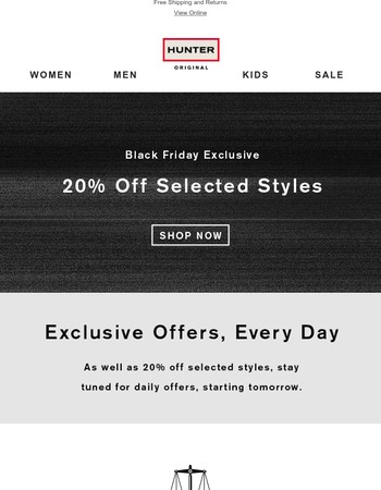 20% Off Starts Now: Black Friday Exclusive