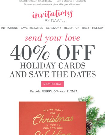 Merry, Merry, Marry! 40% off Ends Soon!