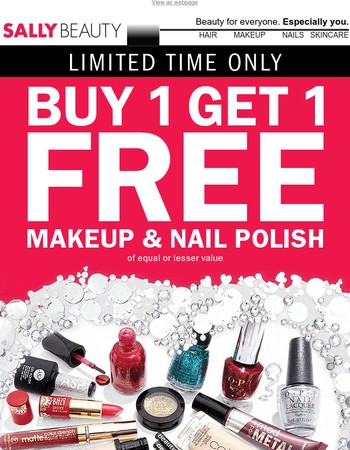 BOGO FREE Makeup & Polish + $15 Off Select ion Tools!
