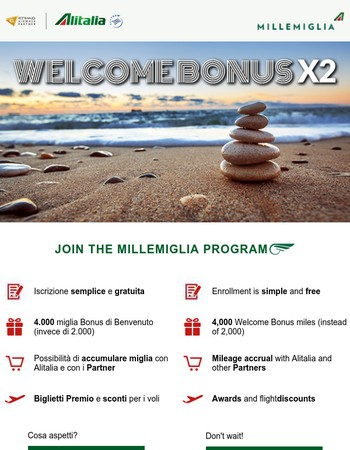 4,000 Bonus Miles are waiting for you!
