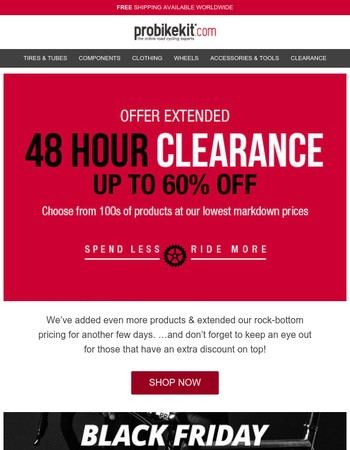 Offer Extended: Up to 60% off - Extra discounts available!
