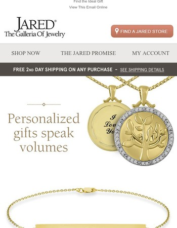 A Personalized Gift Expresses Your Love Best