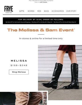 Starts Now! The Melissa and Sam Event