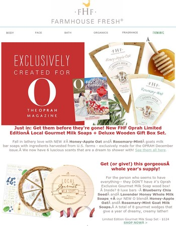 Drumroll... New FHF & Oprah Exclusive gifts - 3 days of Free!