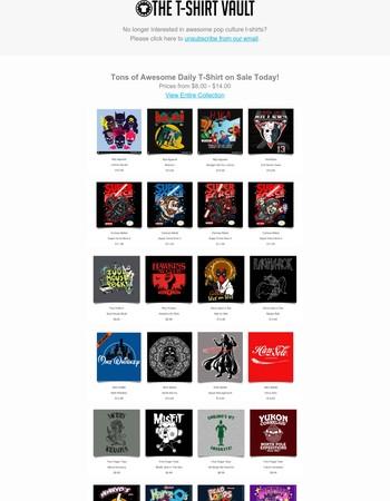 Daily T-Shirt Sales - Star Wars, DC, Marvel, Dragon Ball, Beetlejuice & More