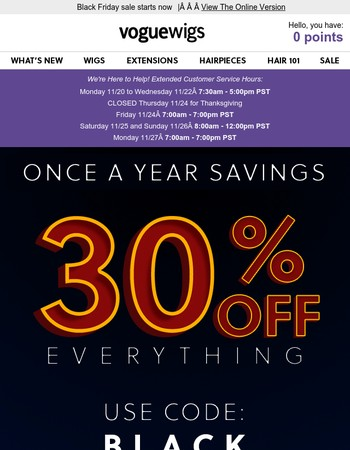 30% off everything is here